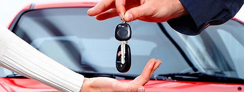 Auto sleutel teruggeven